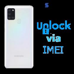 Liberar / Desbloquear Samsung Galaxy A21s AT&T MX - Unefon por IMEI