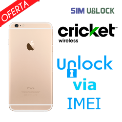 Liberar / Desbloquear iPhone 6, 6+, 6S, 6S+, SE, 7, 7 Plus Cricket por IMEI (Limpios)