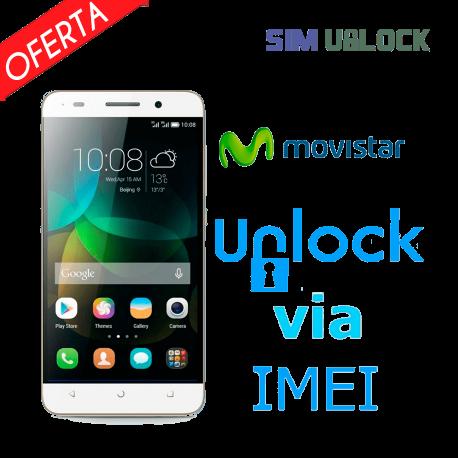 Liberar / Desbloquear Huawei MOVISTAR por IMEI (TODOS MODELOS)