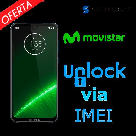 Liberar / Desbloquear Moto G7 Plus Movistar por IMEI