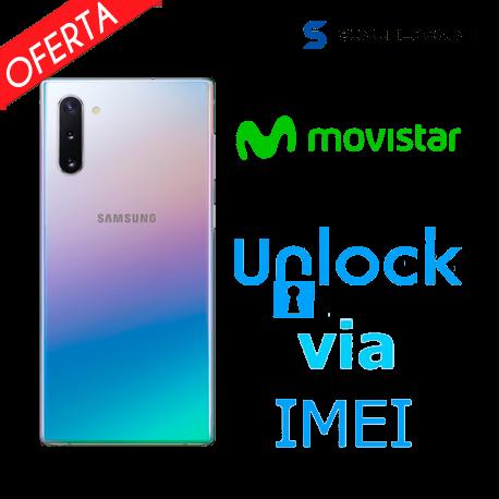 Liberar / Desbloquear Samsung Galaxy Note 10 Movistar por IMEI