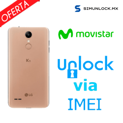 Liberar / Desbloquear LG K9 Movistar por IMEI