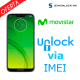 Liberar / Desbloquear Moto G7 Play Movistar por IMEI