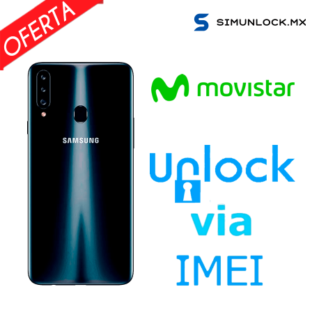 Liberar / Desbloquear Samsung Galaxy A20s Movistar por IMEI