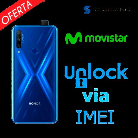 Liberar / Desbloquear Honor 9X Movistar por IMEI