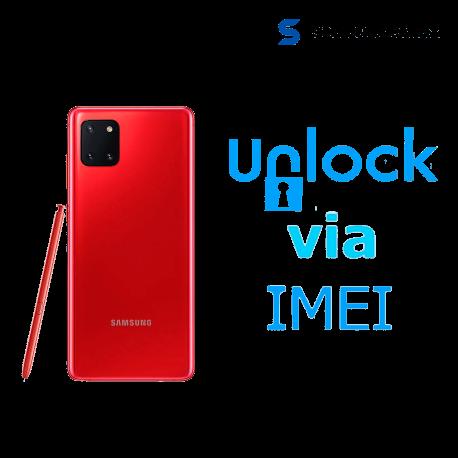 Liberar / Desbloquear Samsung Galaxy Note Lite 10 AT&T MX - Unefon por IMEI