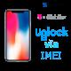 Liberar / Desbloquear iPhone X T-Mobile USA por IMEI (Limpios o financiados)