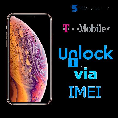 Liberar / Desbloquear iPhone XS Max T-Mobile USA por IMEI (Limpios o financiados)