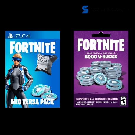 â–º Comprar Fortnite Versa Pack + 5000 Pavos ( PS4 )