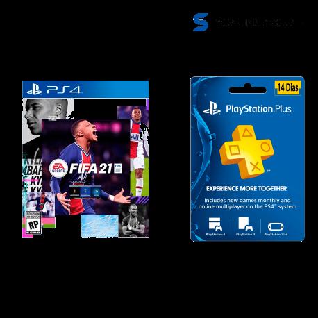 ► Comprar FIFA 21 + FIFA 21 Ultimate Team + PSN Plus 14 días ( PS4 - DIGITAL)